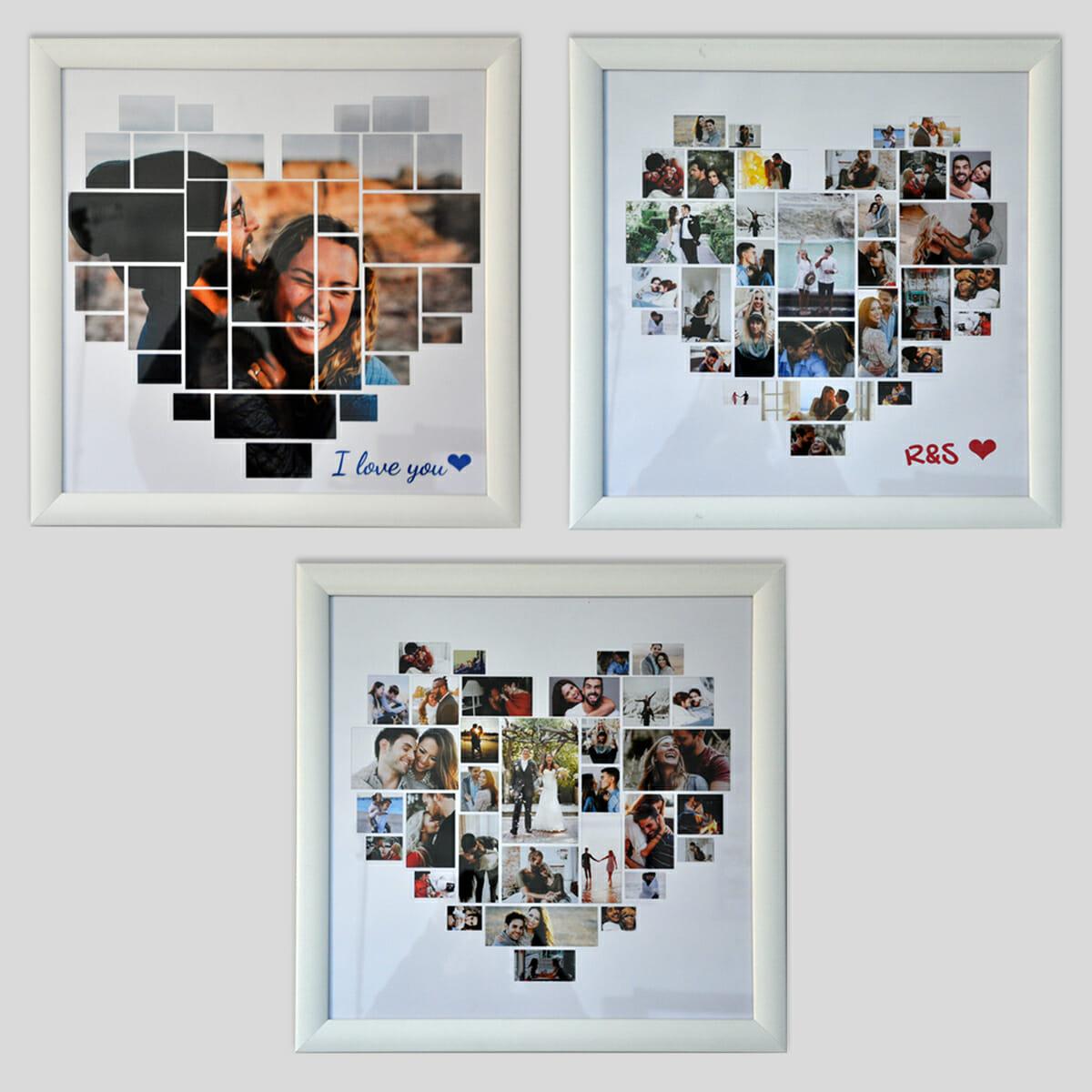 Heart frame laissez parler votre c ur - Idee saint valentin deco murale originale avec coeur geant ...